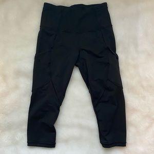 """Lululemon Black 19"""" Leggings - size 4"""
